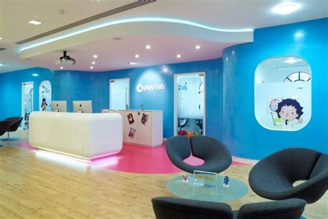 Environmental Graphics Wall Murals playfish s bright and playful london offices office