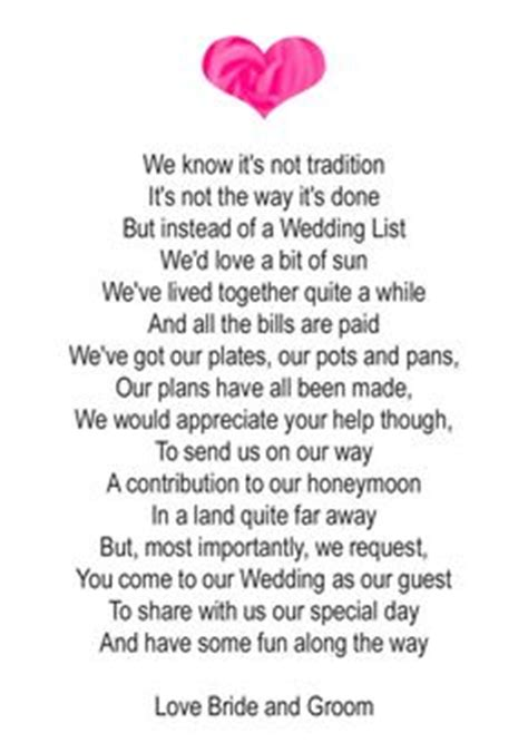 poems to put in wedding invites asking for money 1000 images about invitation on wedding poems
