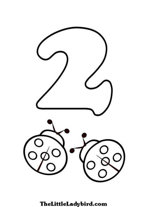 number 2 coloring page free numbers coloring pages thelittleladybird