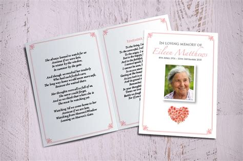 how to make a memorial card memorial cards funeral printing service fitting farewell
