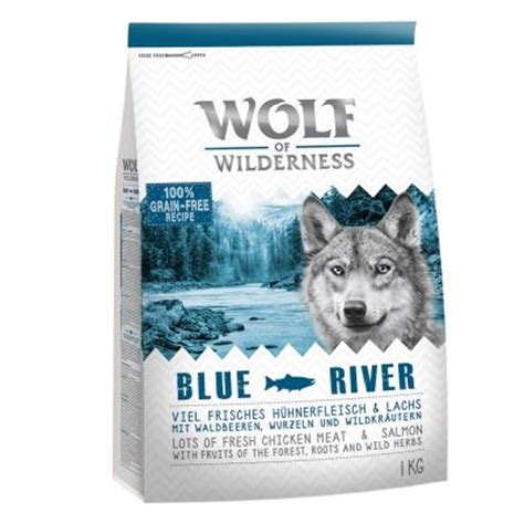 Dogfood Taste Of The Salmon Adlt Repack 1kg Wolf Of Wilderness Blue River Salmon Exclusive To