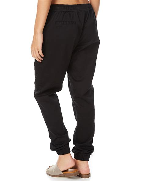 Cotton Lab Essential Chino Black swell essential womens chino jogger black surfstitch