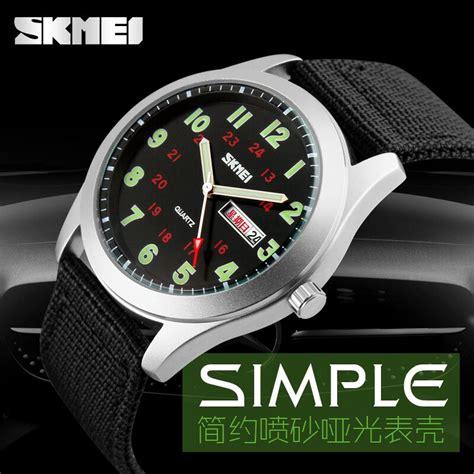 Jam Tangan Skmei Casual Army 30m 9112c Black jam tangan pria skmei casual army water