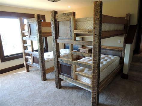 Barnwood Bunk Bed 26 Best Barnwood Beds Images On Pinterest Barnwood Beds 3 4 Beds And Bunk Rooms