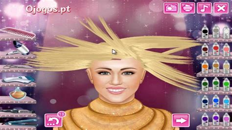 haircut games of hannah montana real haircuts hannah montana miley cyrus game youtube