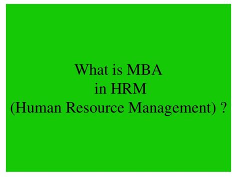 Mba In Hr Advantages by Amity Distance Learning Mba In Hrm Human Resource