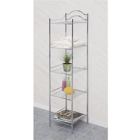 bathroom shelf tower 5 shelf bathroom storage tower stylish solutions with kmart