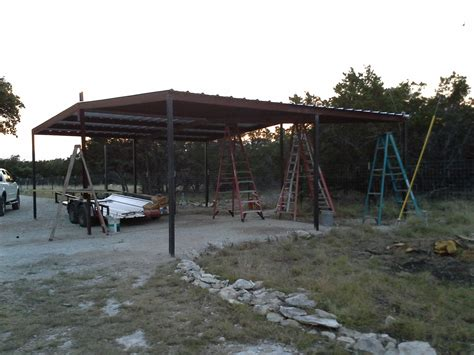 lean to awning gabled carport and lean to awning wimberly texas