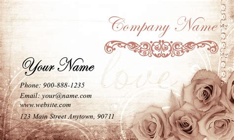 wedding coordinator business cards beautiful