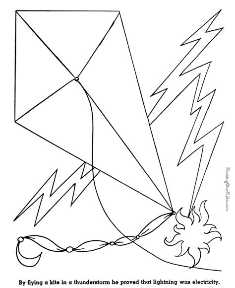 ben franklin coloring page coloring home