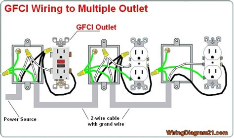 wire gfci outlet diagram wiring outlets together