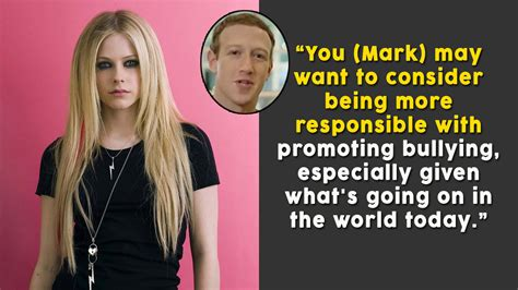 Avril Lavigne Slams by Avril Lavigne Slams Zuckerberg For Taking A Dig At Ex