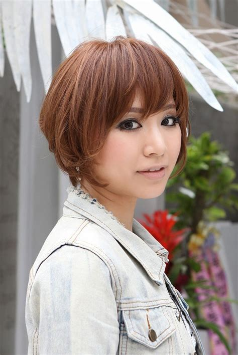 japanese hairstyles trendy short copper haircut from japan stacked short