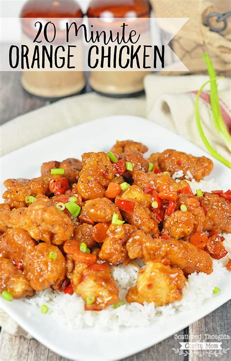 quick orange chicken scattered thoughts   crafty mom
