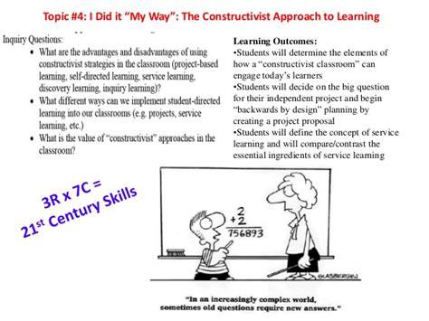 layout of a constructivist classroom topic 4a the constructivist classroom