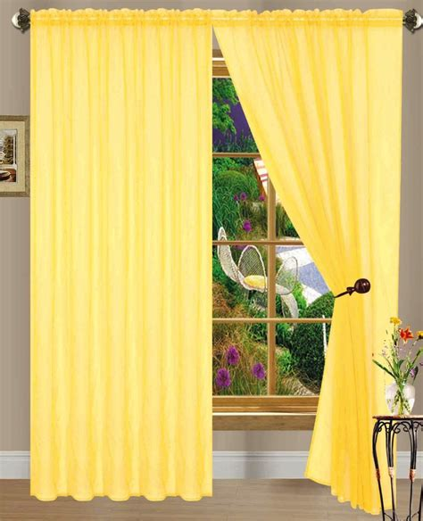 yellow window curtains sheer yellow curtains pair of yellow rod pocket sheer