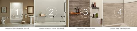 Bathroom Designs For Small Spaces choreograph shower wall and accessory collection