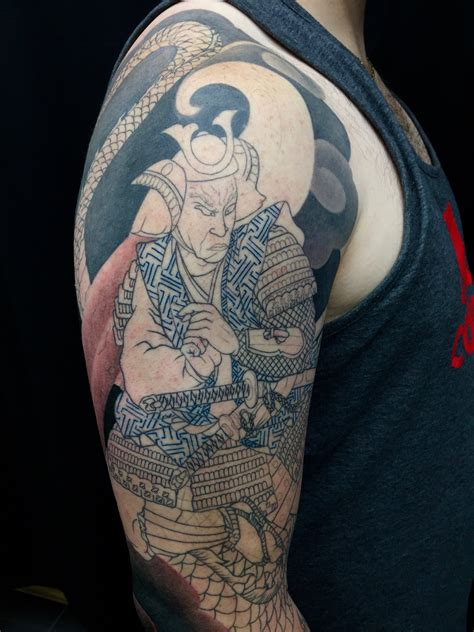 naga dragon tattoo work in progress miya moto musashi samurai and naga