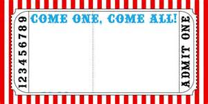 carnival ticket template circus ticket template kidsparty circus invite