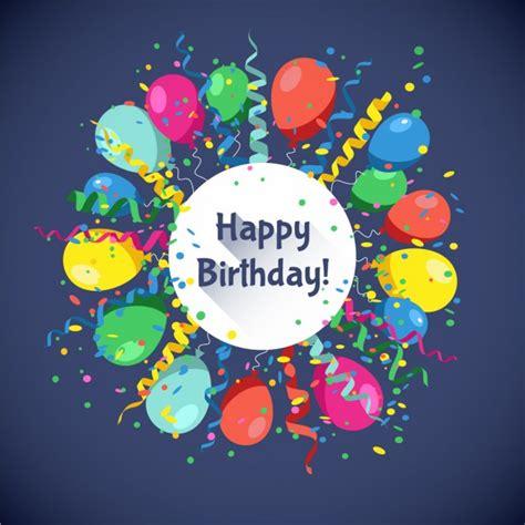 imagenes animadas happy birthday tarjeta de feliz cumplea 241 os con globos y confetti