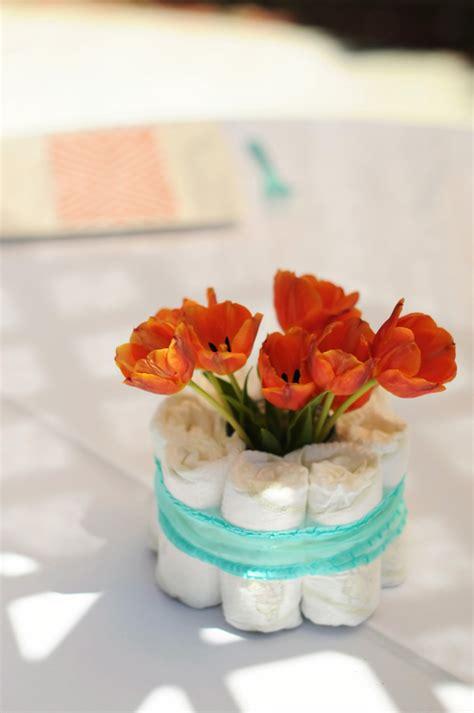 orange  aqua baby shower baby shower ideas themes