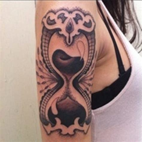 clear tattoos 30 and clear hourglass designs