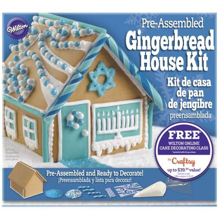 hanukkah gingerbread house kit wilton pre baked assembled gingerbread house decorating kit hanukkah moms priority
