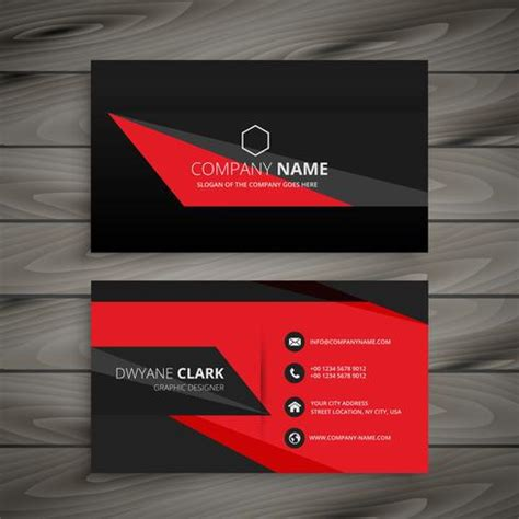 business card black stock ai template black business card template vector design