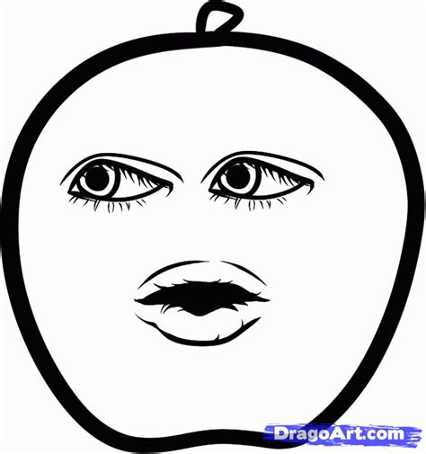 how to draw apple annoying orange step by step cartoon