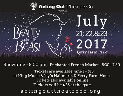 beauty and the beast location home acting out theatre co