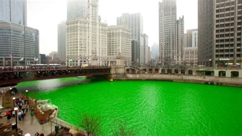 Lime Green Bedroom The Greening Of The Chicago River Carolyn S Compositions