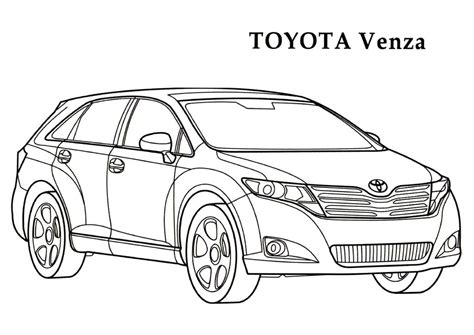 page toyota corolla coloring pages