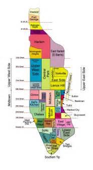 map of neighborhoods neighborhoods of manhattan