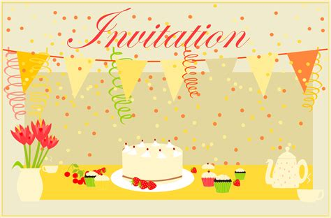 Birthday Card Invitation Free Printable Party Invitation Card Coffee Invitation