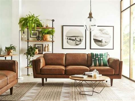 mid century modern leather sofa 6 minimalist mid century modern living rooms be inspired