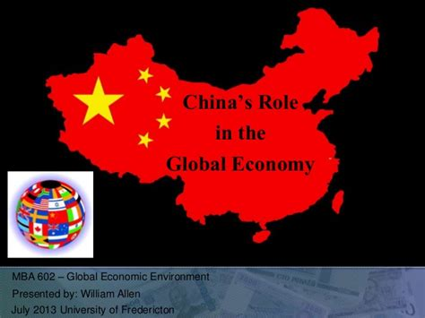 Of Fredericton Mba Courses by China Presentation Global Economics