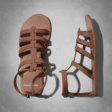 Sandal Gladiator Pria 4 faux leather gladiator sandals from abercrombie