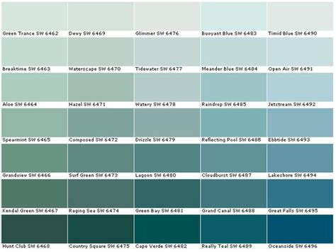sherwin williams sw6462 green trance sw6463 breaktime sw6464 aloe sw6465 spearmint sw6466