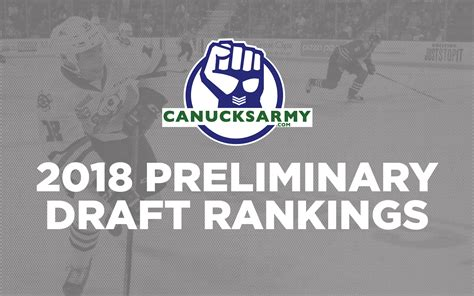 2018 Nhl Draft 2018 Nhl Draft Preliminary Rankings 11 To 15 Canucksarmy