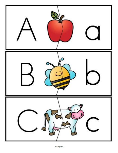 Printable Alphabet Puzzle Cards | free alphabet upper and lower case letters puzzle