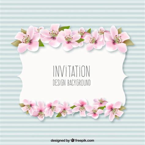 sfondo con i fiori sfondo dell invito con i fiori scaricare vettori gratis