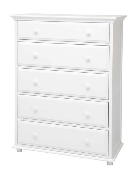 big 5 drawer dresser by maxtrix shown in white