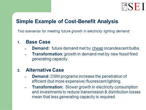 simple cost benefit analysis template integrated energy environment modeling and leap ppt