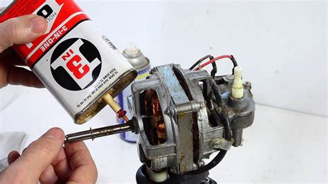 how to lubricate a fan motor fixing a seized oscillating fan motor