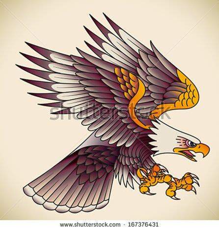 1000 ideas about traditional eagle tattoo on pinterest