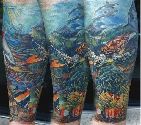 underwater sleeve tattoo the map tattoos animal underwater 2