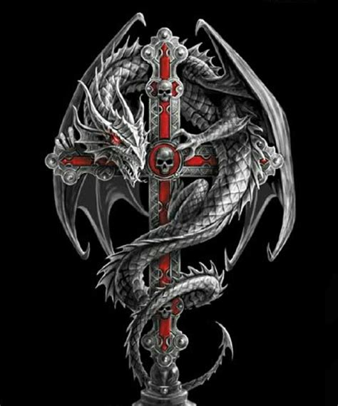 cross and dragon tattoo on cross wallpaper quotes sayings
