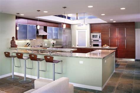 elegant contemporary breakfast bar design ideas