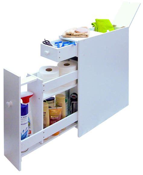 slimline bathroom storage cupboard cabinet unit rack white