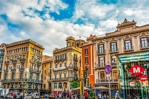spain colors barcelona of colors free stock photo